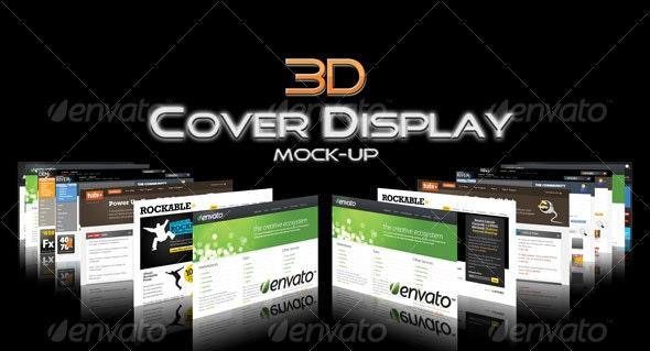 3D Cover Display Mock-Up - Website Displays