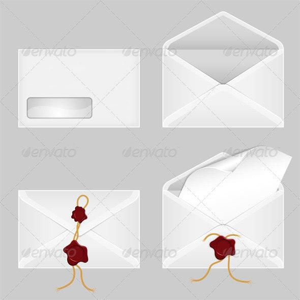 Set of Envelopes - Concepts Business
