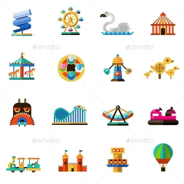 Amusement Park Icons - Miscellaneous Vectors