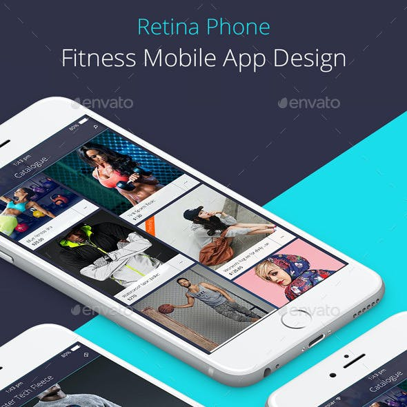 Mobile Fitness App Design for Retina Phone