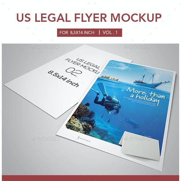 Us Legal Flyer Mockup