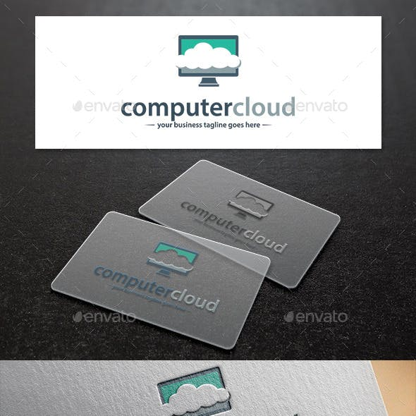 Computer Cloud Logo Template