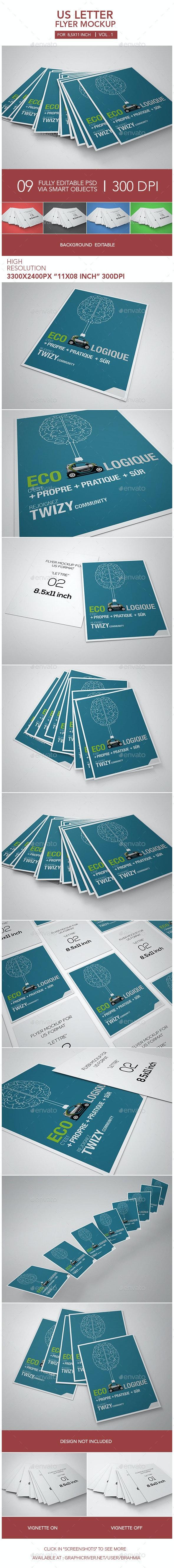 Us Letter Flyer Mockup - Flyers Print