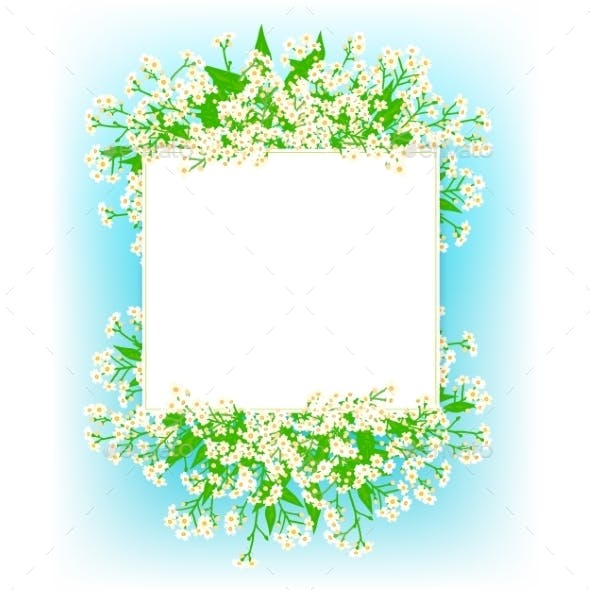 Card with Small White Flowers