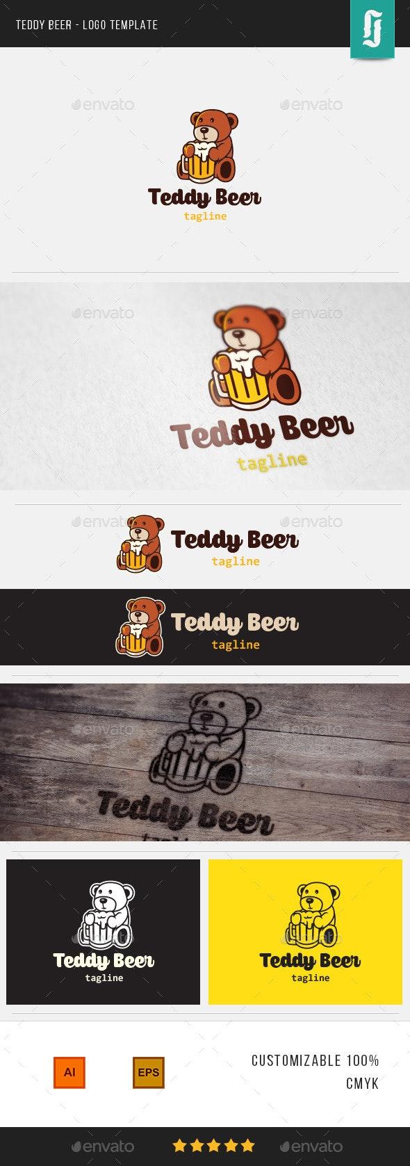 Teddy Beer - Logo Template - Food Logo Templates