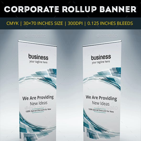 Blue Corporate Rollup Banner Vol7