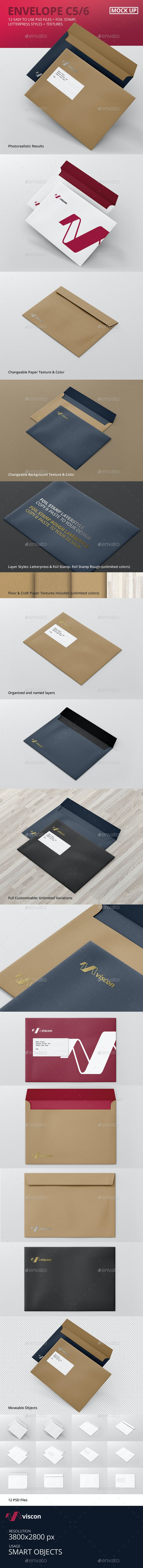 Envelope C5 Mock-Up - Stationery Print