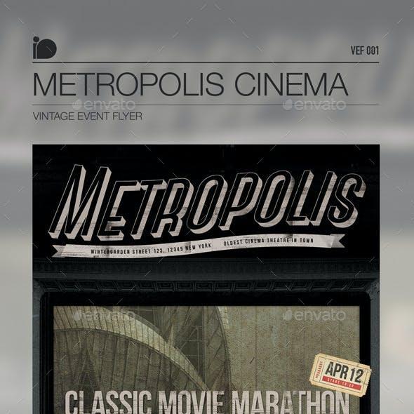 Vintage Event Flyer • Metropolis Cinema