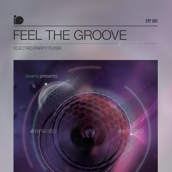 Electro Party Flyer • Feel The Groove