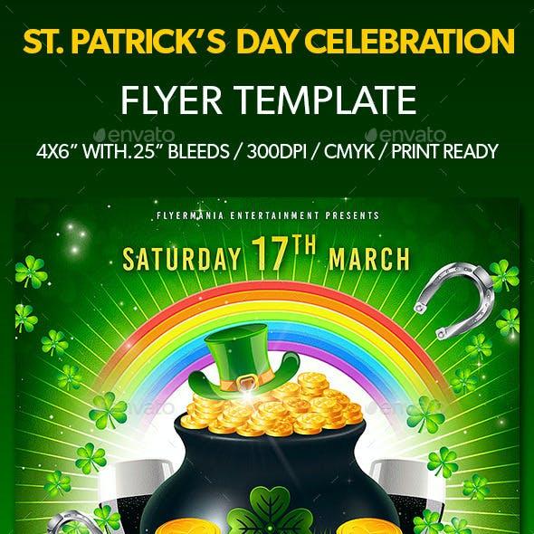 St. Patrick's Day Celebration Flyer Template