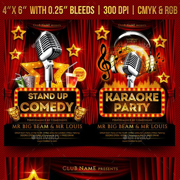 Comedy and Karaoke Flyer Template