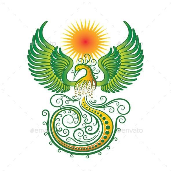 Phoenix Tribal Vector
