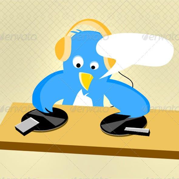 Twitter DJ Bird