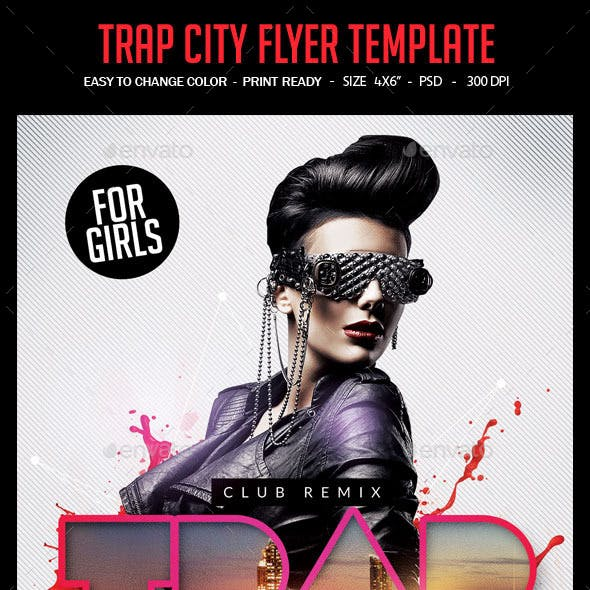 Trap City Flyer Template