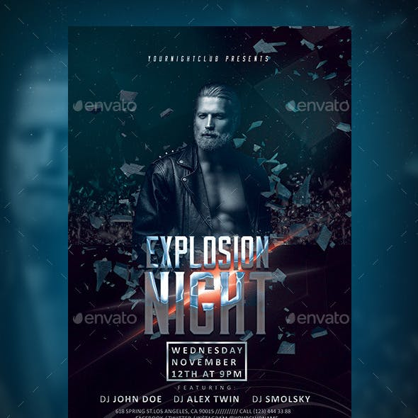 Explosion Night Party Flyer