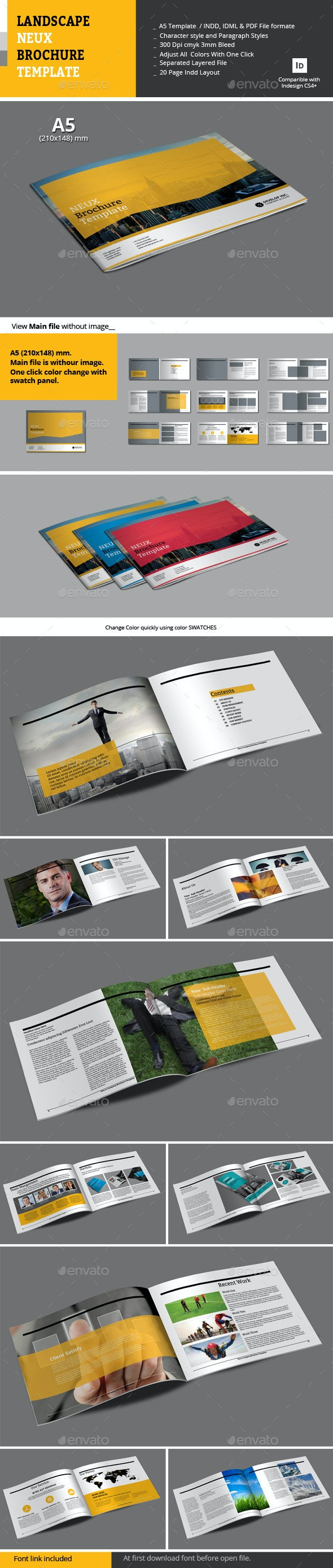 Landscape Neux Brochure Template - Corporate Brochures