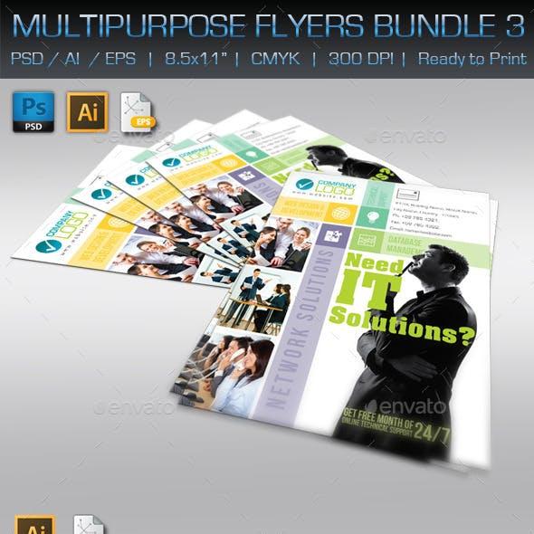 Creative Multipurpose Flyers Bundle 3