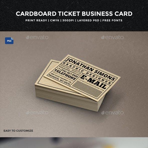 Cardboard Ticket Business Card - 30
