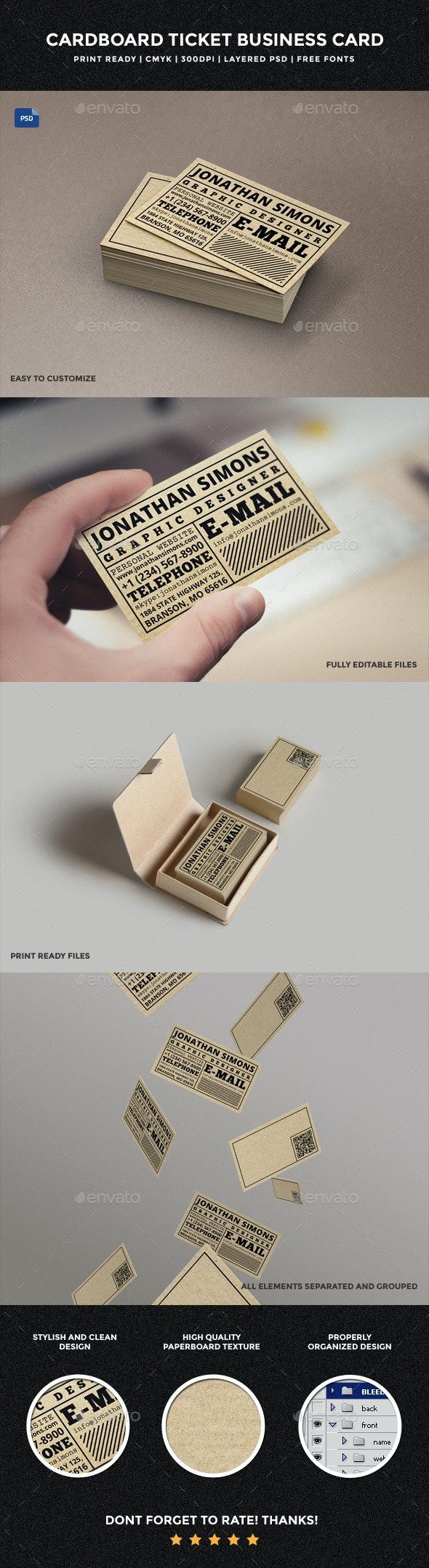 Cardboard Ticket Business Card - 30 - Creative Business Cards