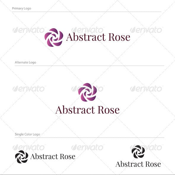 Abstract Rose Logo Design - NAT-003