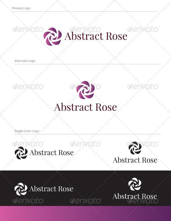 Abstract Rose Logo Design - NAT-003 - Abstract Logo Templates