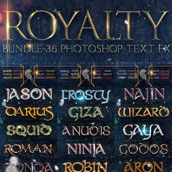 Royalty Bundle - 36 Photoshop Text FX