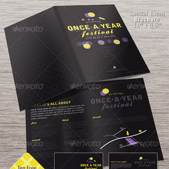 Special Event Brochure - Half Fold