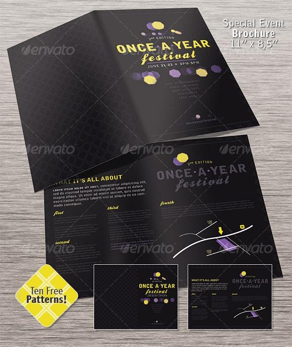 Special Event Brochure - Half Fold - Corporate Brochures