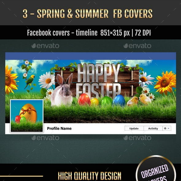 3 - Spring & Summer FB Covers