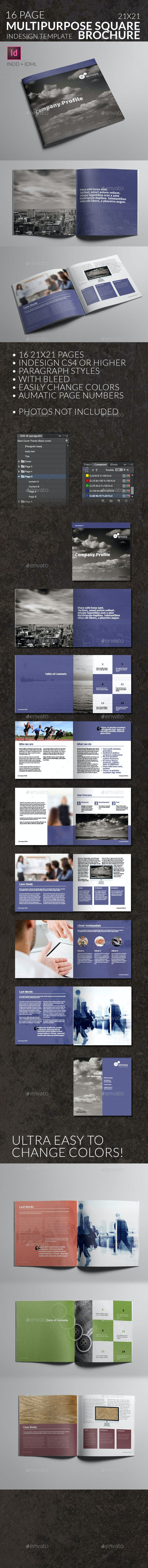 Corporate Square Brochure - Mitosis - Multipurpose - Corporate Brochures
