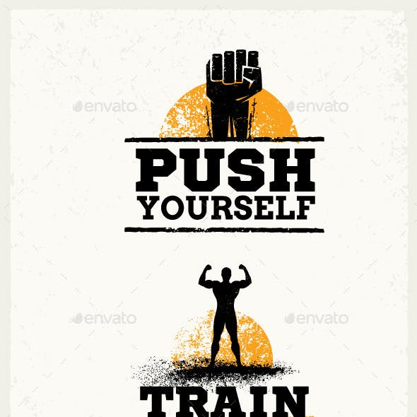 Gym Workout Grunge Motivation Quotes
