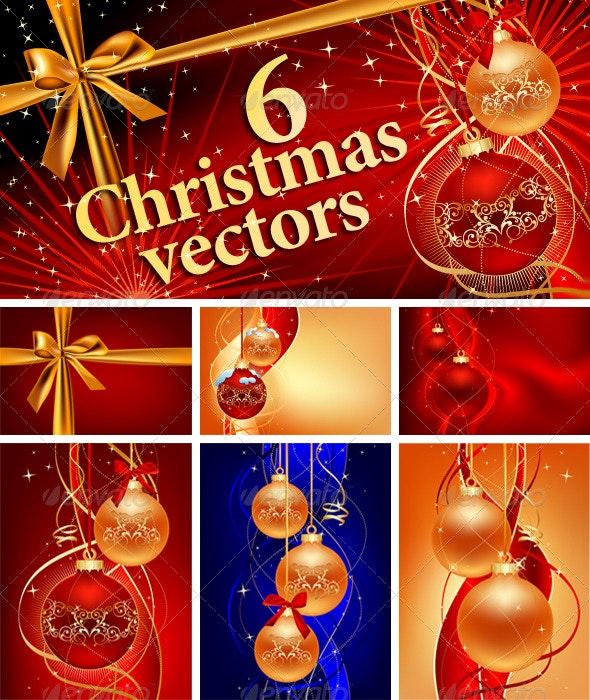 6 Christmas Vectors - Christmas Seasons/Holidays