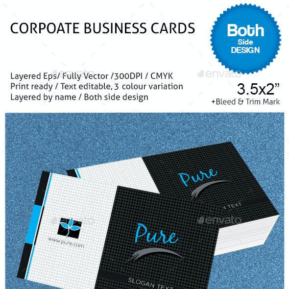 Pure Corporate Business Cards