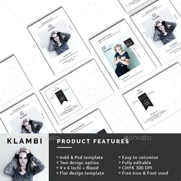 Fashion Show Invitation Postcard