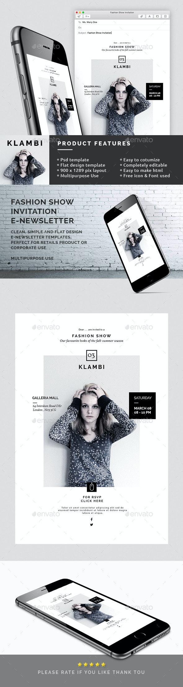 Fashion Show Invitation Email Newsletter