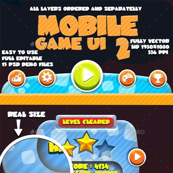 Mobile Game UI Pack #2