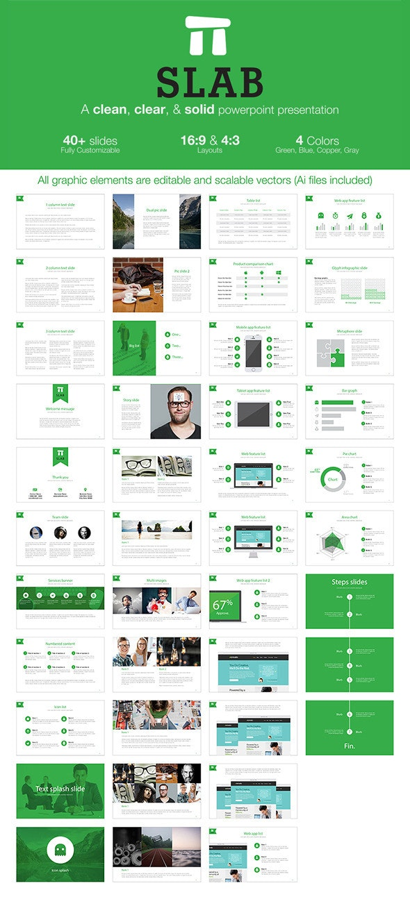 Slab - A clean, clear, & solid powerpoint template - PowerPoint Templates Presentation Templates