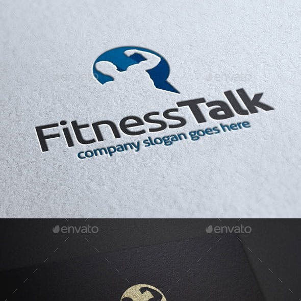 Fitness Talk Logo Template