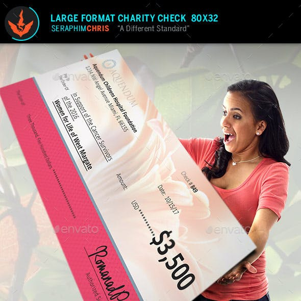 Large Format Charity Check Template 2