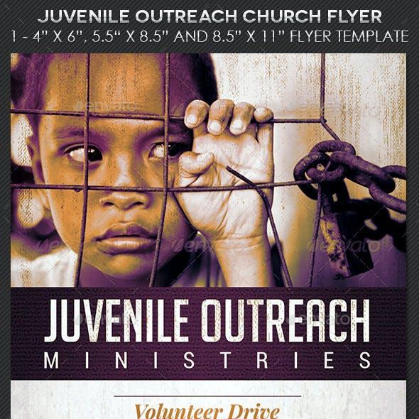 Juvenile Outreach Church Flyer Template