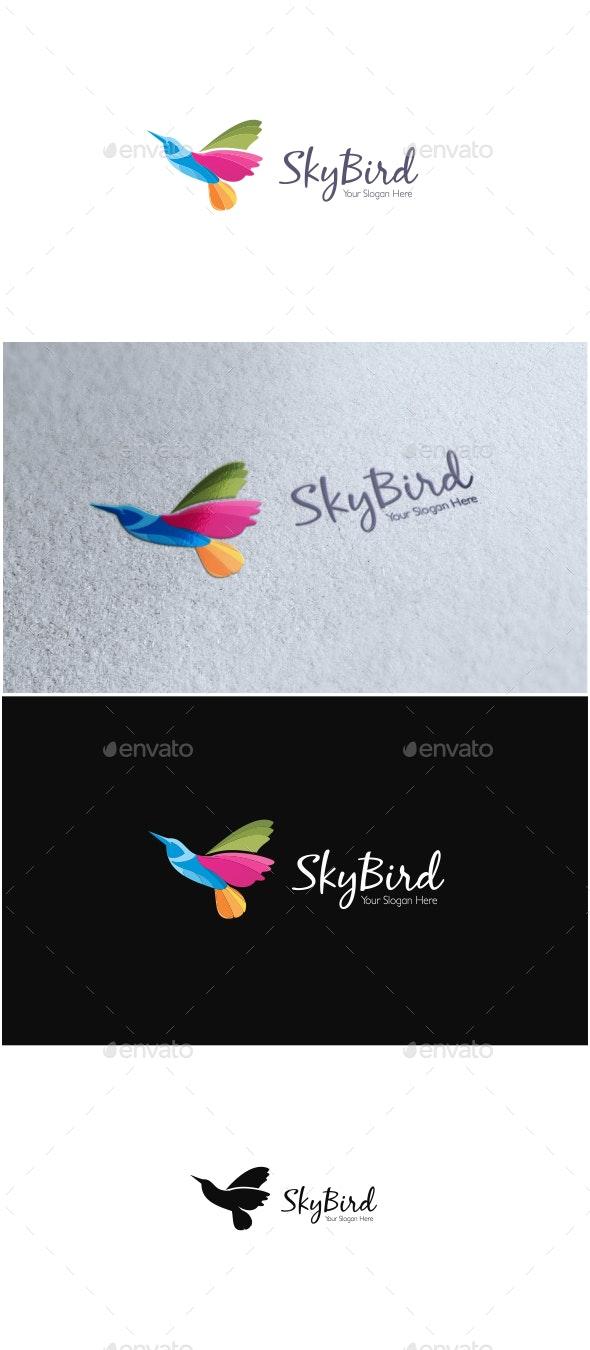 Sky Bird Logo - Animals Logo Templates