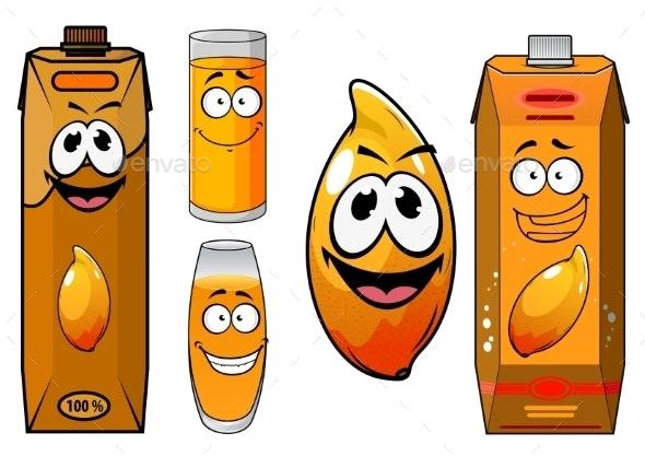 Fresh Mango Juice Characters  - Food Objects