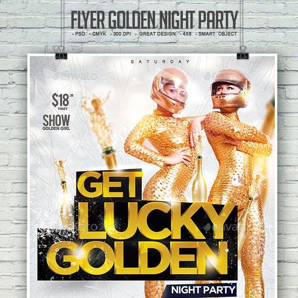 Flyer Golden Night Party