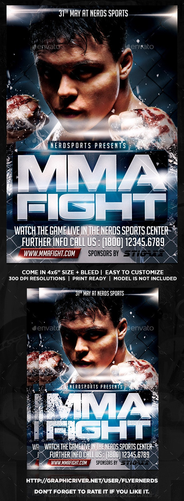 MMA Fight 2K15 Sports Flyer - Sports Events
