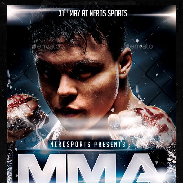 MMA Fight 2K15 Sports Flyer