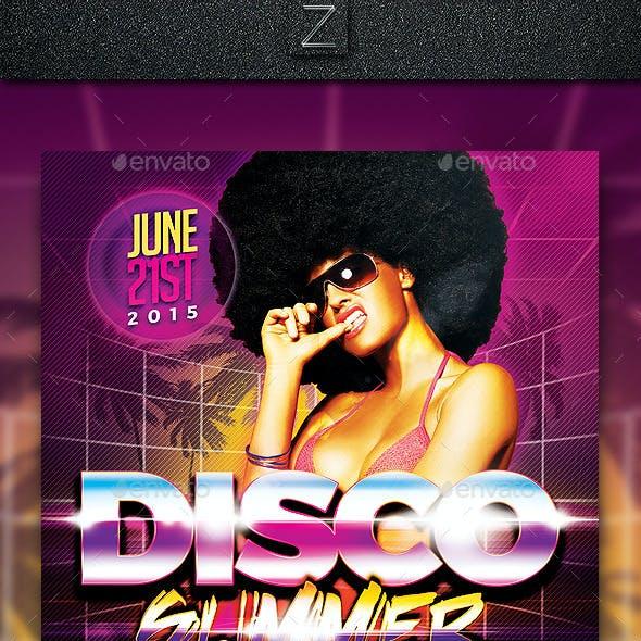 Disco Summer Flyer Template
