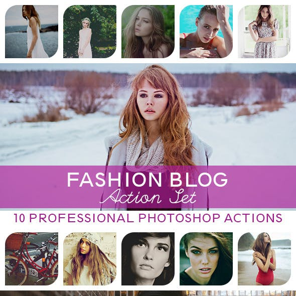 10 PRO Photoshop Actions Vol.III