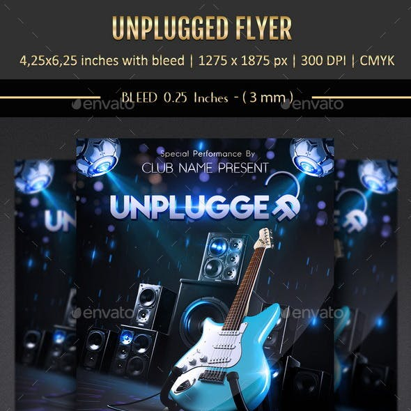 Unplugged Flyer