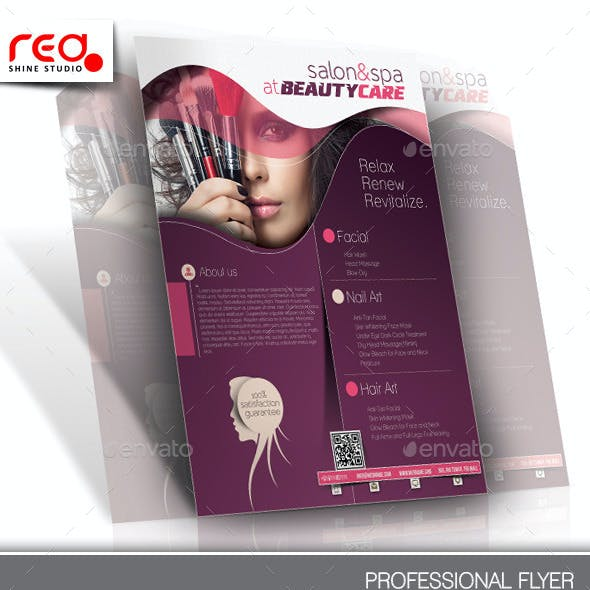 Beauty Care Flyer & Poster Template