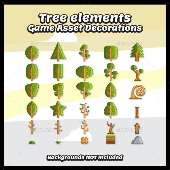 Tree Vector for Game Decorations
